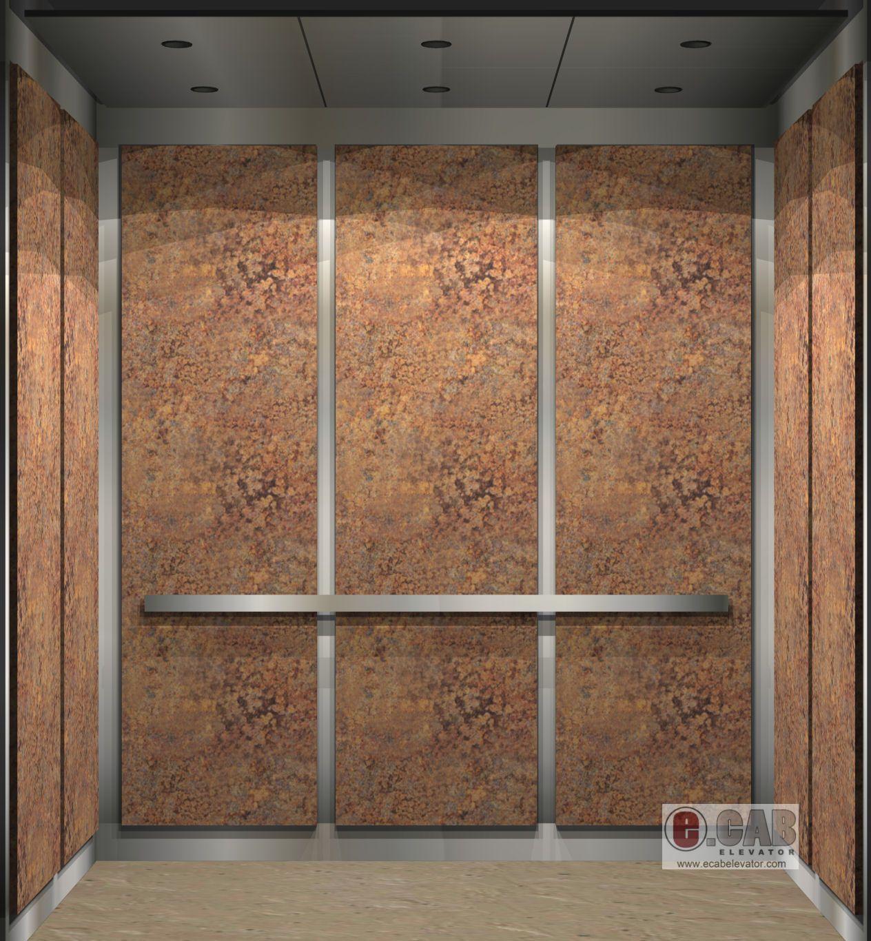 e.cab elevator - interior design rendering - 3000# capacity