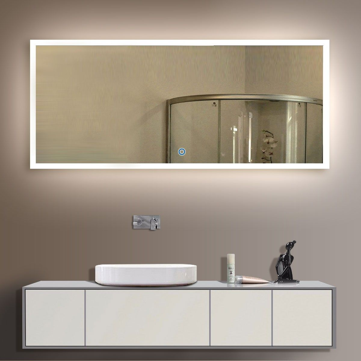 874 84 X 40 In Horizontal Led Illuminated Bathroom