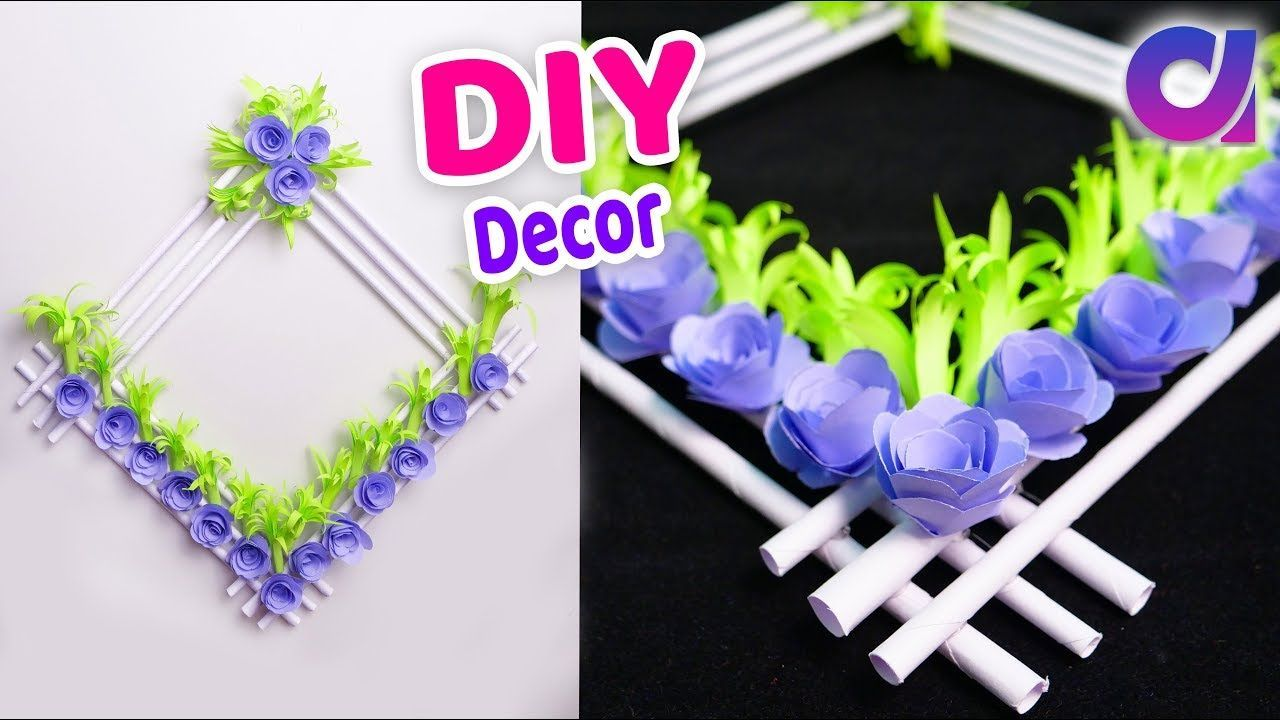 How To Make Easy Paper Flower Wall Hanging Home Decor Idea Wall