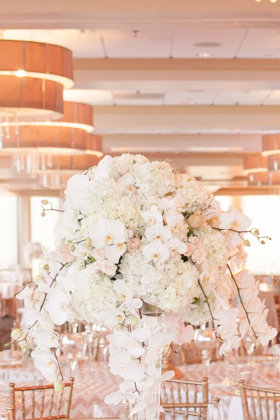 Wedding decorations luxury  Featured On Style Me Pretty Luxury White Orchid Centerpieces Wedding