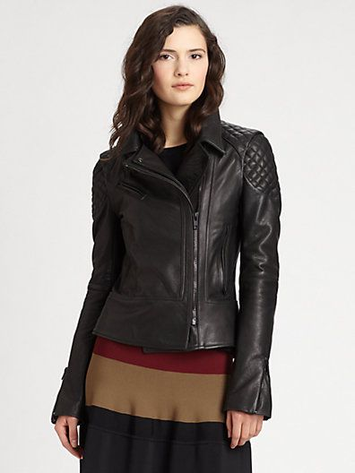 Alc Tilber Quilted Leather Moto Jacket Saks Womens