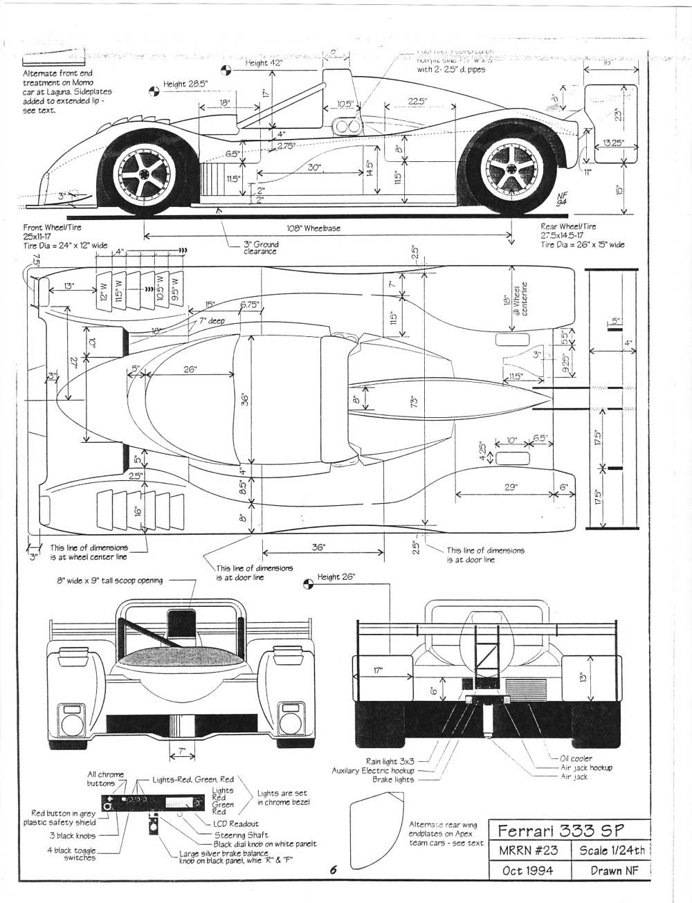 diy make it yourself for  50k  ferrari 333sp 1994  its not