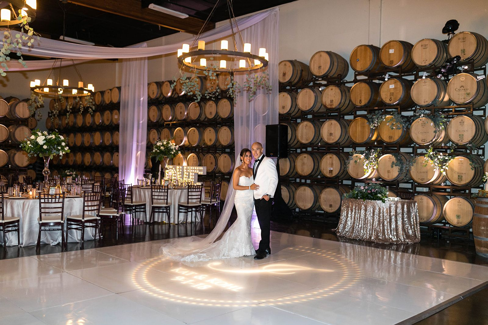 Reception Area Winery Wedding At Callaway Winery In Temecula
