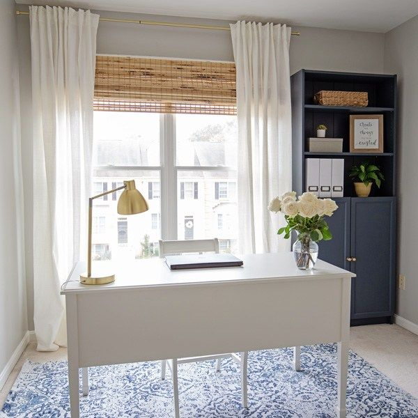 Navy And Grey Office Makeover Reveal (With Images)