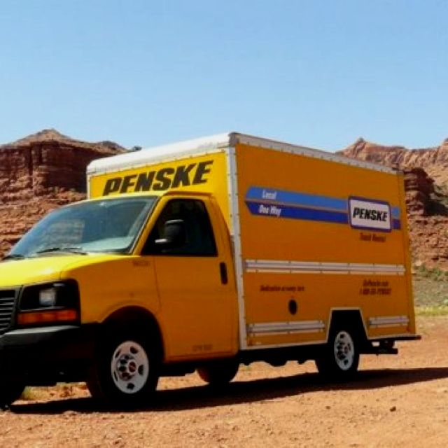 Penske Truck In Escalante National Park Grand Staircase With