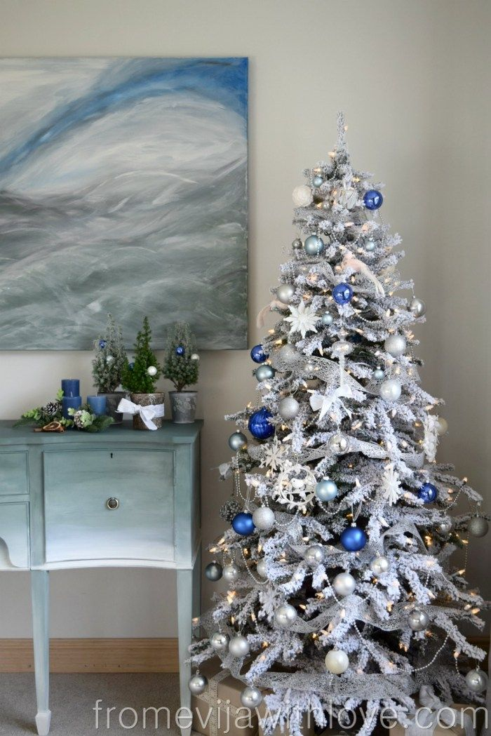 our beautiful christmas tree christmas mornings with treetopia from evija with love blue duck egg blue white and silver christmas ornaments - Duck Egg Blue Christmas Decorations