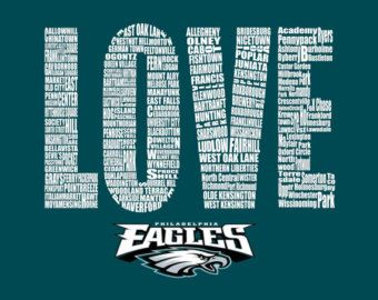 9ccbc0a4 Popular items for typography art on Etsy | PHILADELPHIA EAGLES ...