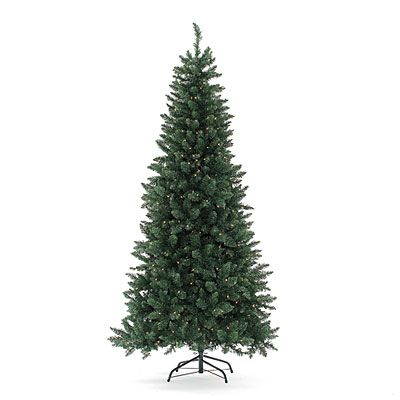 7 pre lit artificial christmas tree slim with clear lights at big lots - Big Lots White Christmas Tree