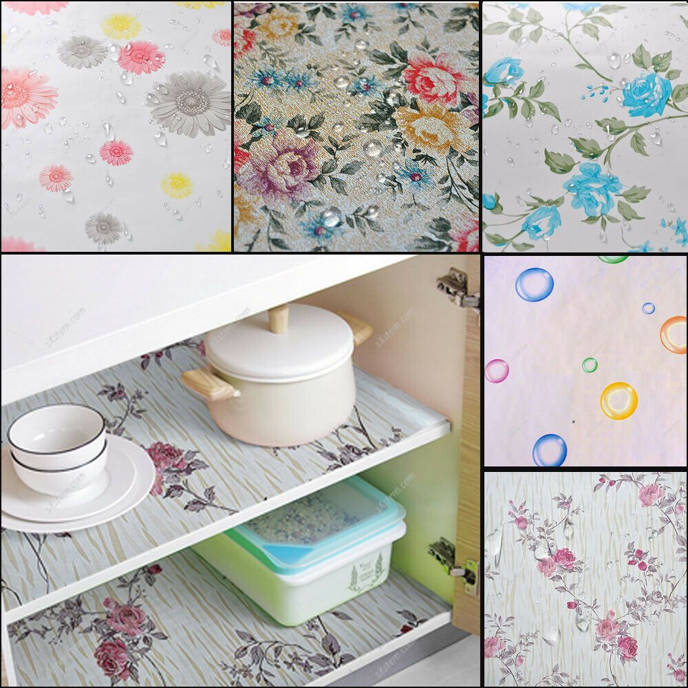 Details about 45*200cm Self Adhesive Wall Paper Floral