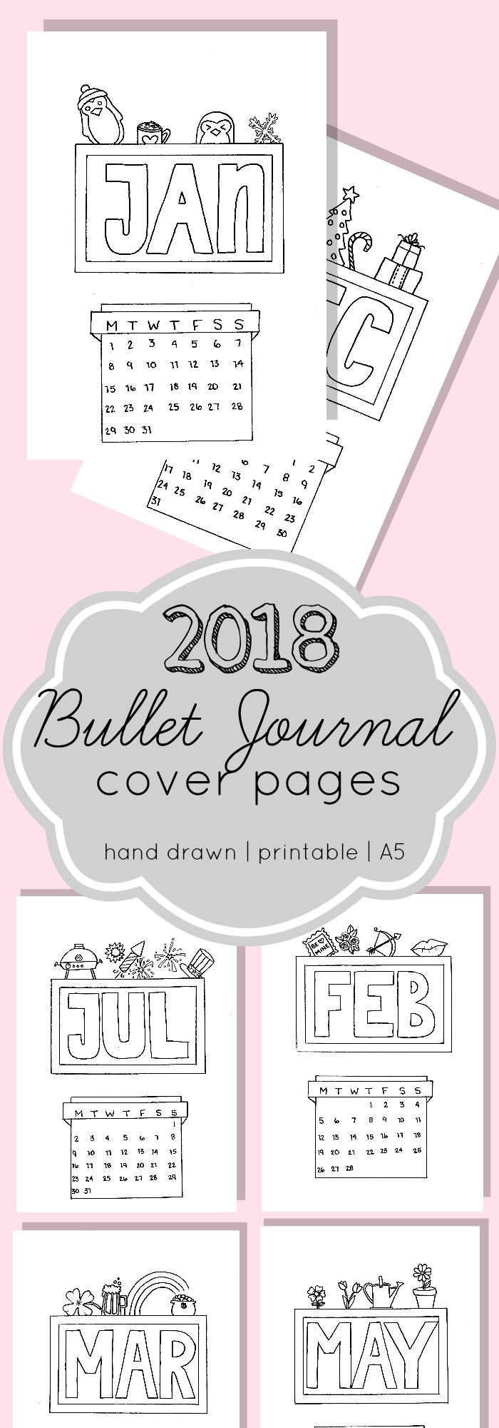 graphic about Journal Cover Printable identify Printable 2018 Bullet Magazine Include Web pages. A5 measurement consequently they