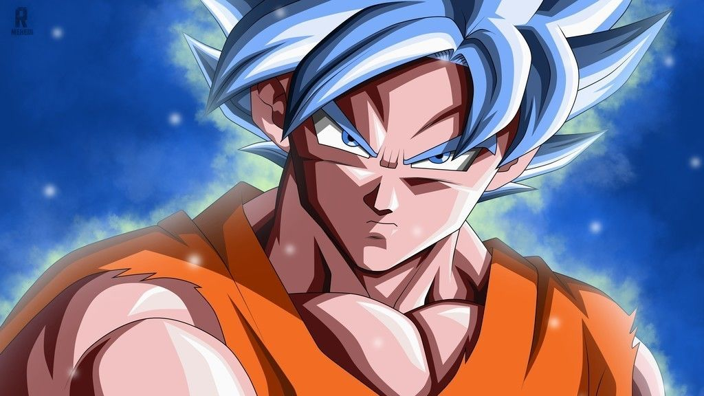 Goku Face Blue Hair Wallpaper Anime Dragon Ball Dragon Ball