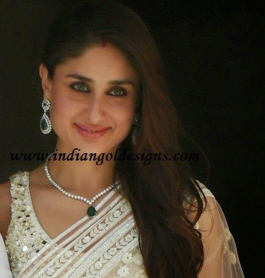 Gold and Diamond jewellery designs: Kareena Kapoor ...