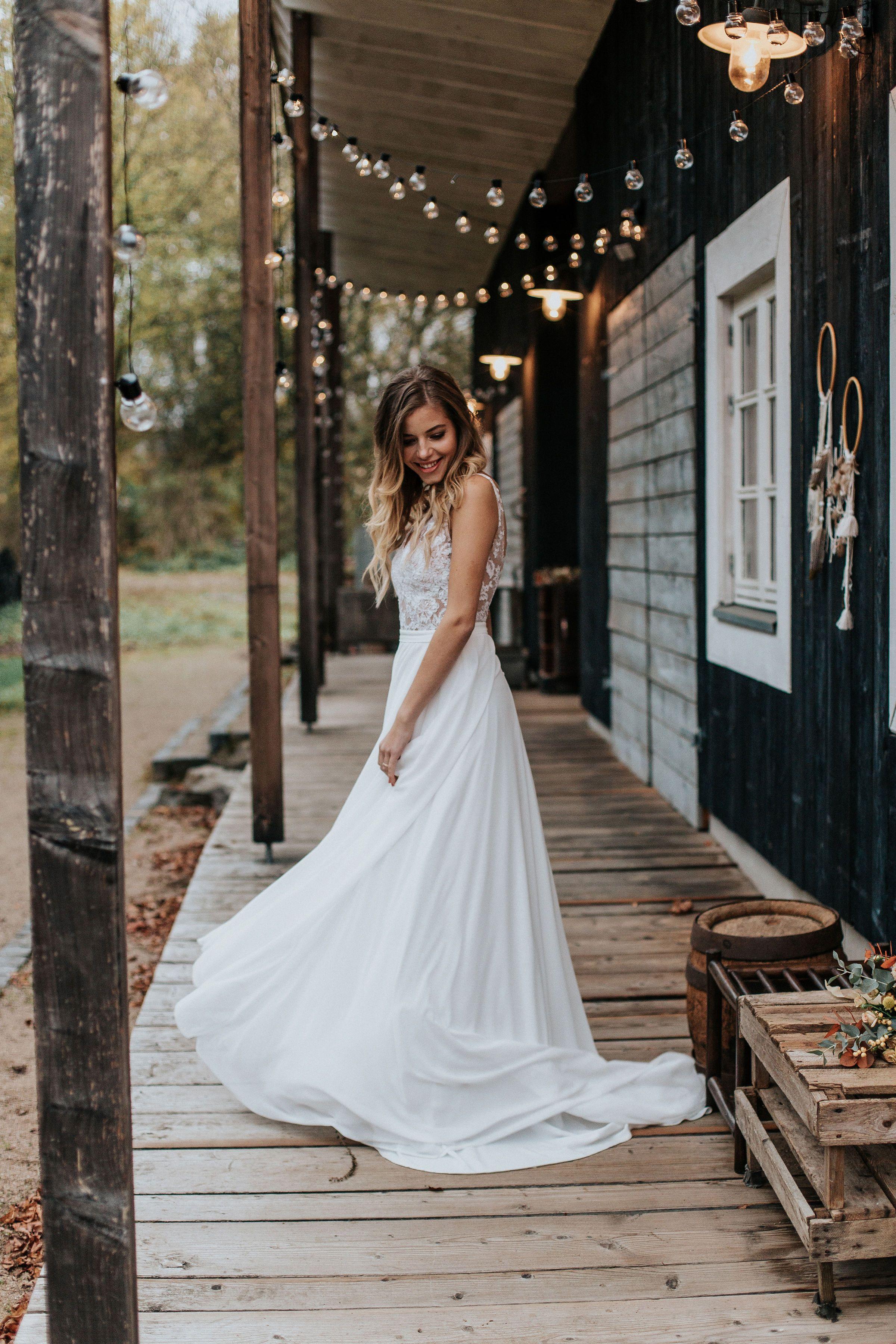 Brautkleid Boho Vintage Hochzeitskleid ...