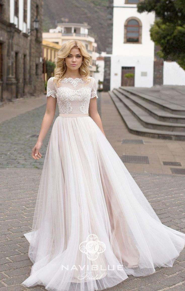 David Meister Embroidered A Line Evening Gown Dress Lovely Wedding Dress Stunning Wedding Dresses Short Wedding Dress
