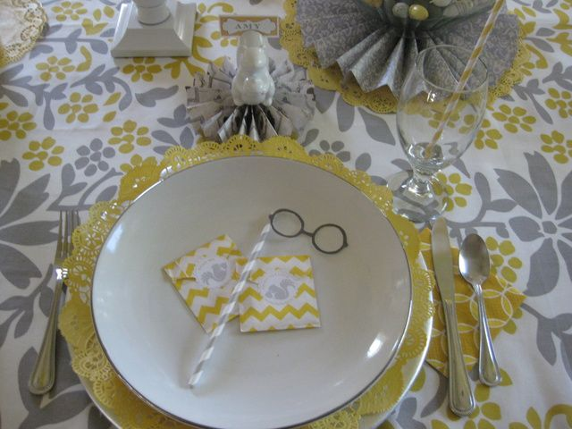 Photo 1 Of 20 Let S Go Nuts Dinner Party Quot Nutty Grey Amp Yellow Quot Catch My Party Tabletops