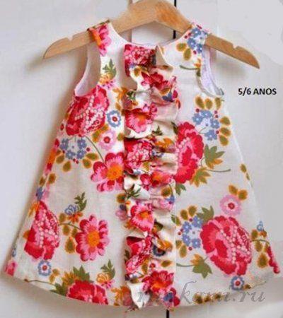 Платье для девочки своими руками на лето