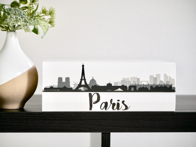 Paris Decorative Book Set City Skyline Books Custom Coffee