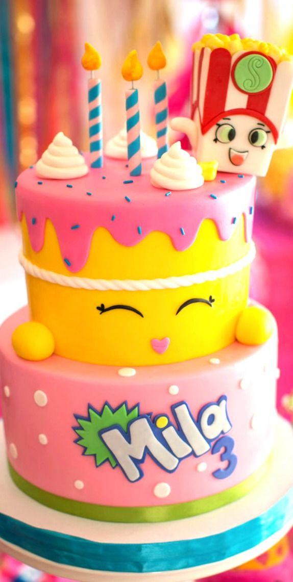 Floral Shopkins Birthday Party Tortas De Shopkins Tortas Con