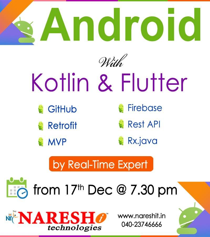 Learn android with kotlin flutter demo on 17th dec 7