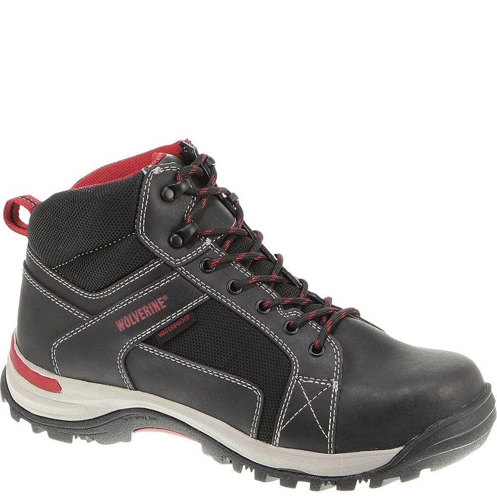 W10302 Wolverine Men's Socket Safety Boots Black
