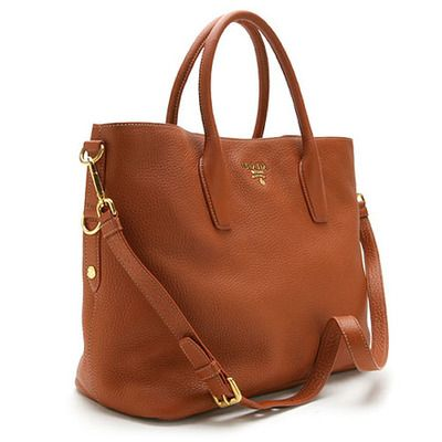 e1fd123882fd3 Prada tote brown.............so beautiful, I would adopt this and raise it  as my own child
