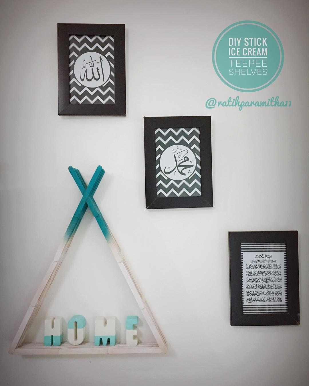 Hiasan Dinding Buatan Sendiri Bermotif I Shabby Home Ic Calligraphy Art