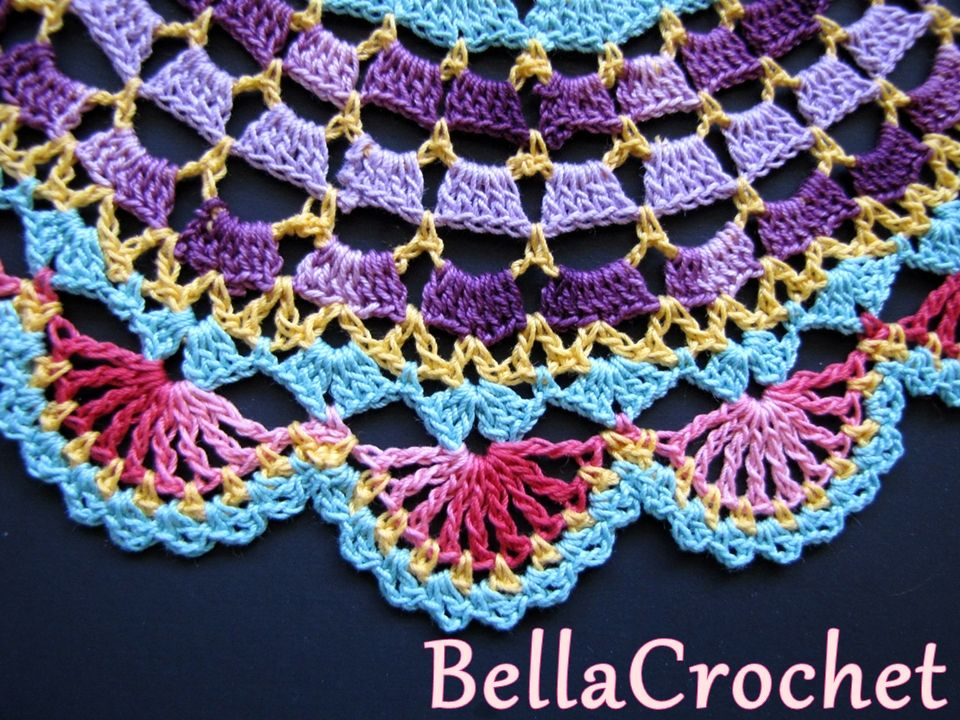 BellaCrochet: Radiant Rose Mandala tapete: Un patrón de ganchillo ...