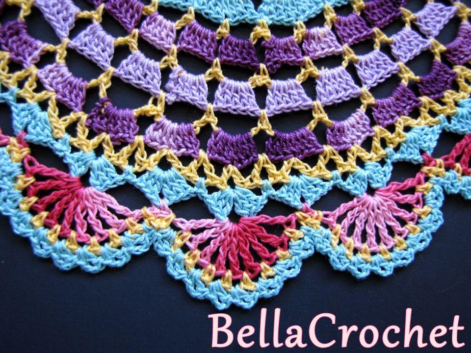BellaCrochet: Radiant Rose Mandala tapete: Un patrón de ganchillo ...