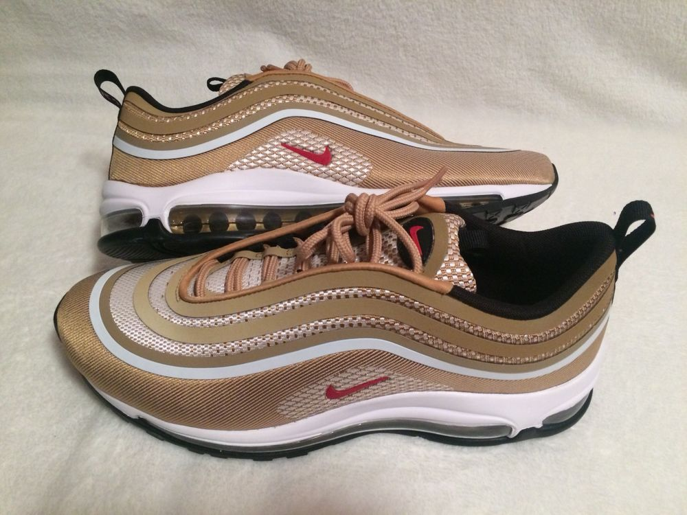 85377dfa8c8 Men s Nike Air Max 97 Ultra  17 OG Metallic Gold Style 918356-700 Size