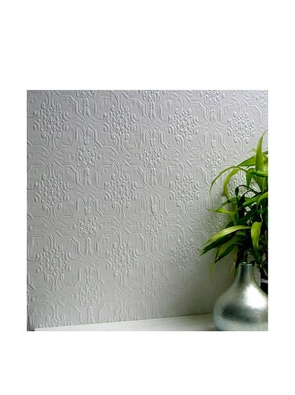 Brewster Paintable Berkeley Anaglytpa Original Peelable Wallpaper, White at MYHABIT