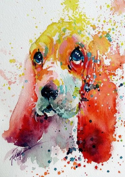 Tilen Ti Watercolor Vibrant Animal Paintings Colorful Paintings