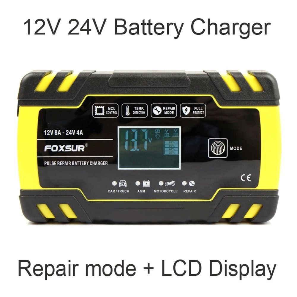 Fully Automatic Car Battery 12v 8a 24v 4a Fast Charging Free Shipping