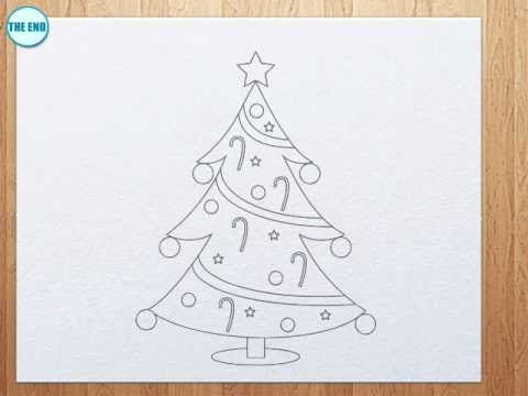 How To Draw A Christmas Tree Playlist Christmas Tree Drawing Christmas Tree Art Lessons For Kids