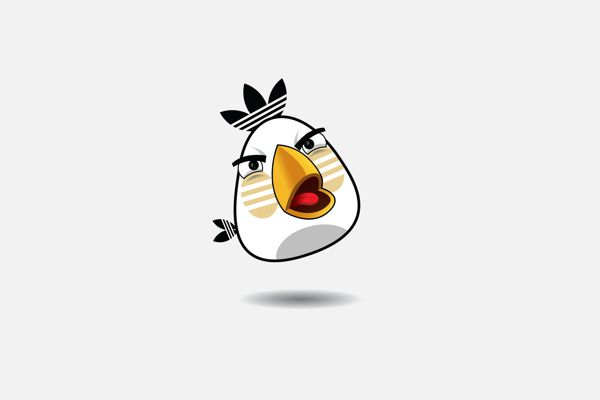 Angry Brands parodie logo Adidas   Angry Brands   parodie Angry Birds pour les logos de marques   Yakushev Grigory photos photo parodie logo...
