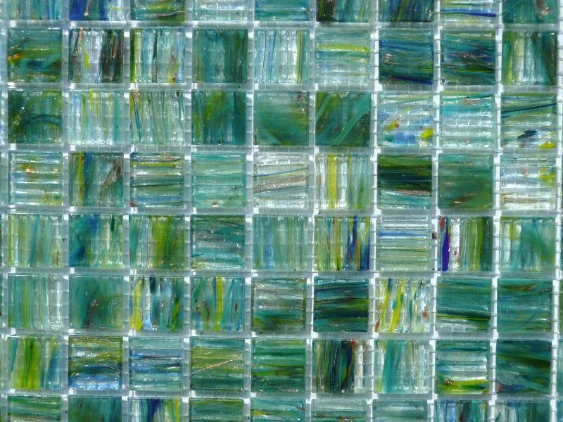 Vert mosaïque pâte de verre vert jaune bleu gemme plus par plaque ...