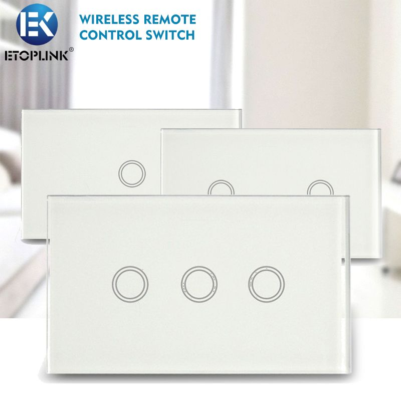 Find More Smart Home Controls Information about Geeklink Glass Intelligent Wireless Remote Control Touch Switch Panel US Standard 118 Home 1 2 3 Way Intelligent Control Switch ,High Quality intelligent home,China home control Suppliers, Cheap switch panel from Guangzhou Etoplink Co., Ltd on Aliexpress.com