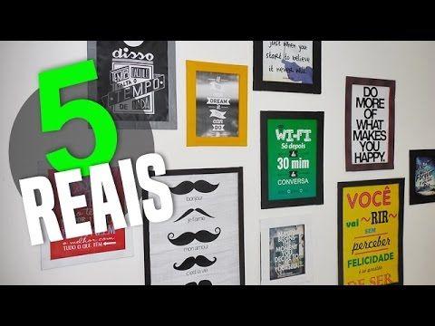 7ae1cc865 DIY  COMO FAZER MOLDURA DE QUADRO com Papel Cartão para Decorar Quarto  Estilo Tumblr - YouTube