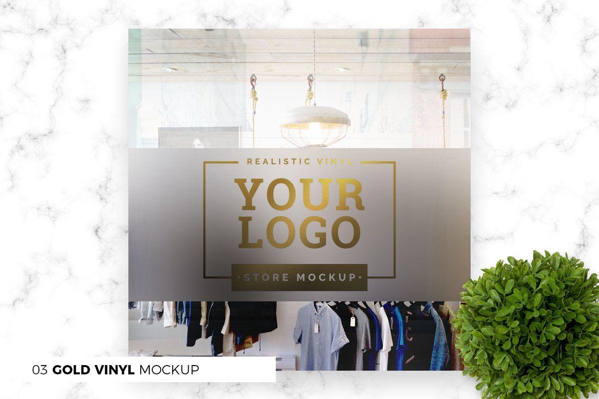 Storefront Shop Mockup Bundle Logo Mockup Storefront Signs Store Fronts