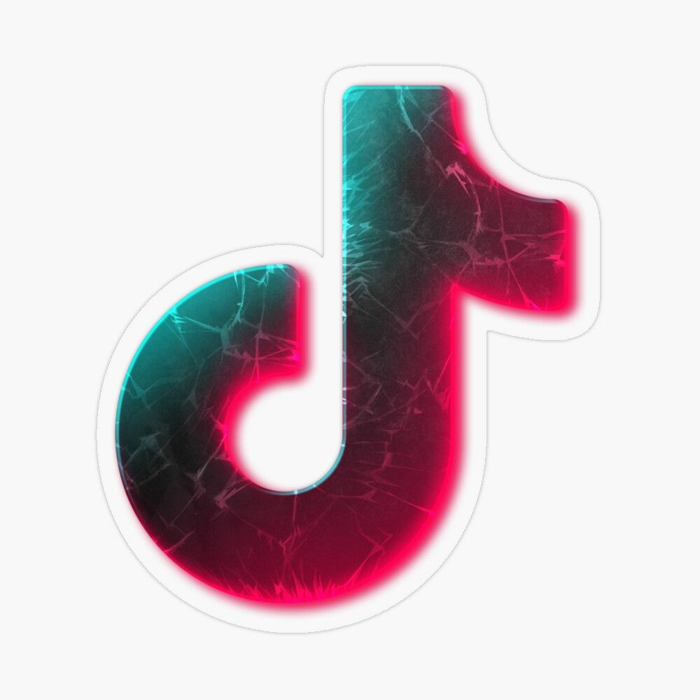 Tik Tok Neon Sticker By Yarchy Plastic Stickers Cute Patterns Wallpaper Coloring Stickers