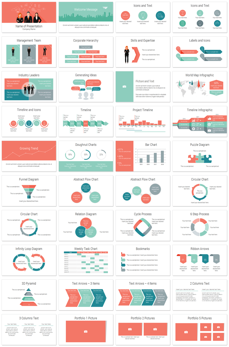 Teamwork powerpoint template teamwork flat design and template teamwork powerpoint template in flat design style with 40 slides this template is great for presentations on workforce human resource employees etc toneelgroepblik Image collections