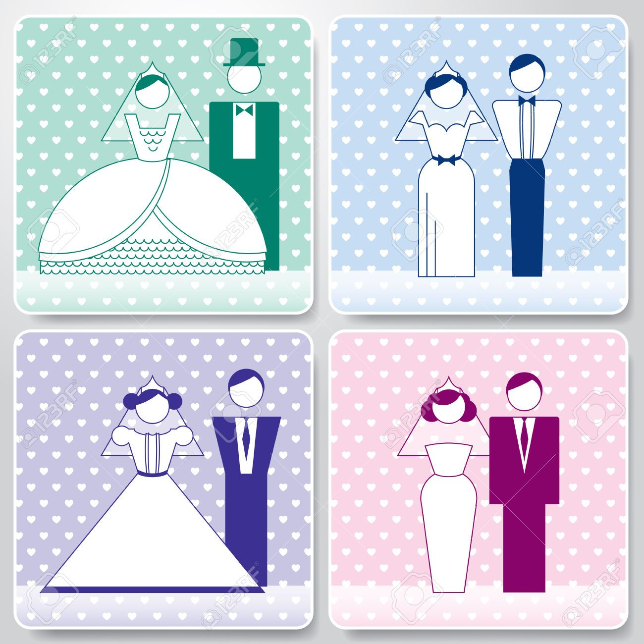 23498301-Wedding-Pastel-Icons-With-The-Bride-And-Groom-Vector-Illustration-Vector-can-be-scaled-to-any-size-w-Stock-Vector.jpg (1300×1300)