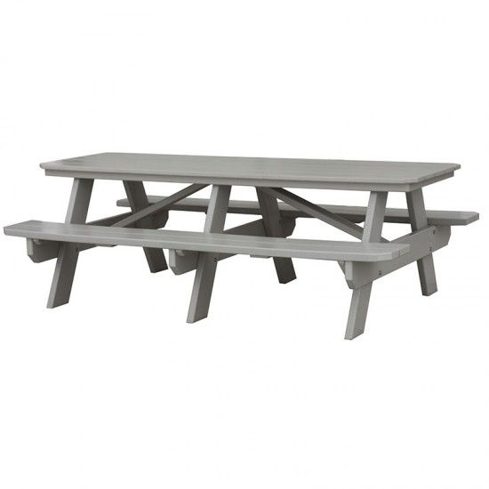 Amish Made Large Poly Picnic Table Amish Picnic Tables - Polywood picnic table with benches