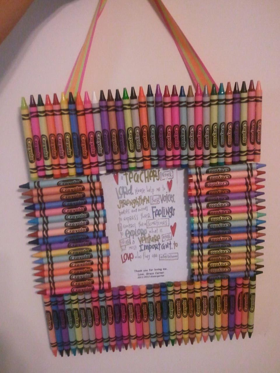 Crayon frame for teacher appreciation