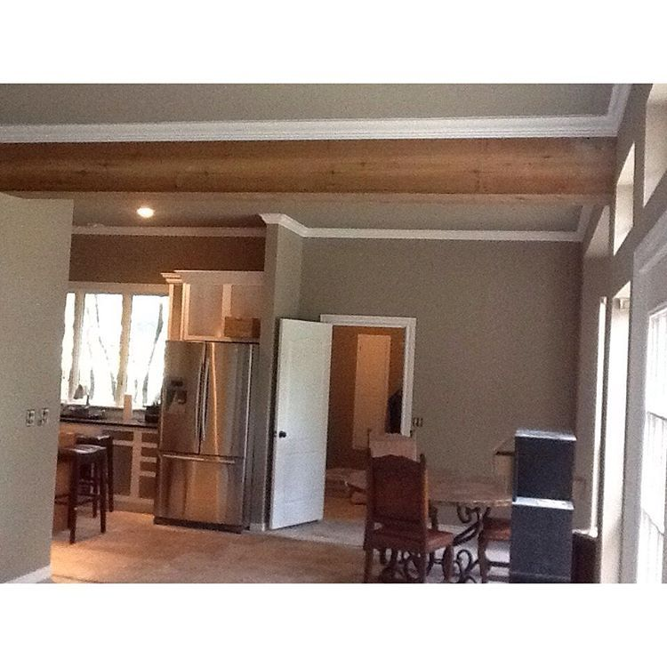 Lauren Turner Design on Instagram: Living room and kitchen paint has happened and my exposed...