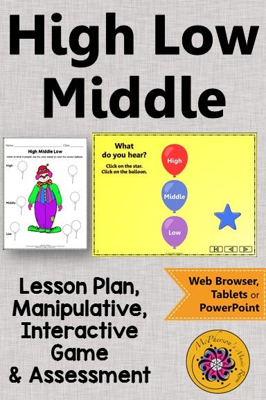 High Low Middle  Music Lesson Plan  Interactive Music Game
