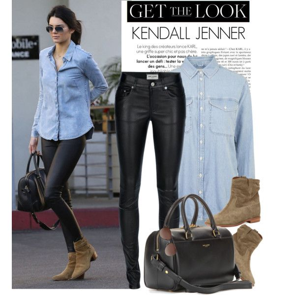 Celebrity style: Kendall Jenner by monmondefou on Polyvore featuring  Topshop, Yves Saint Laurent,