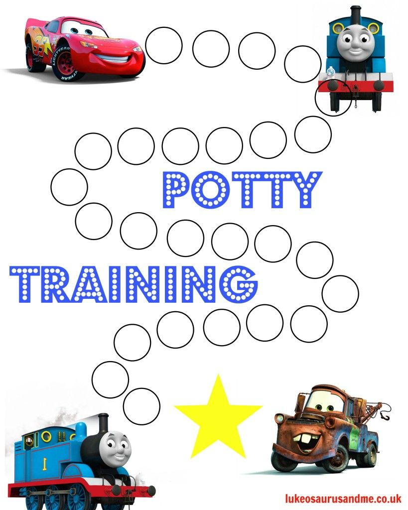 Free printable thomas and cars potty training chart ethan