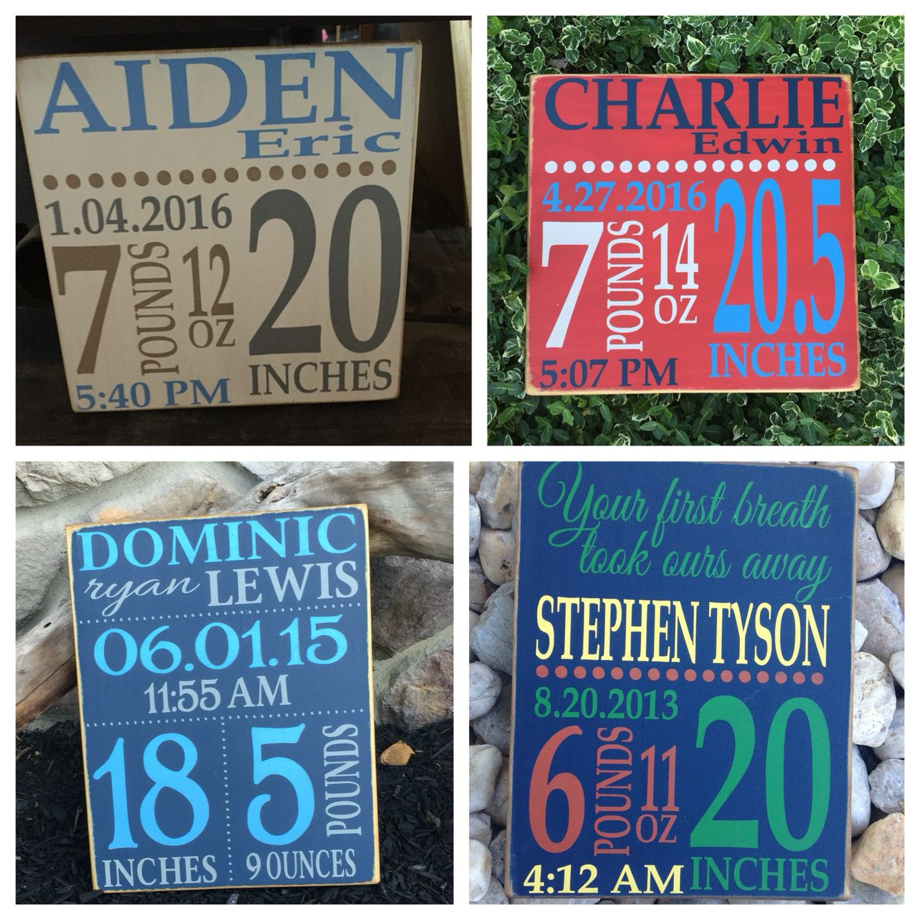 Personalized baby birth stats painted wood signs facebook personalized baby birth stats painted wood signs facebookdingbatsanddoodles solutioingenieria Choice Image