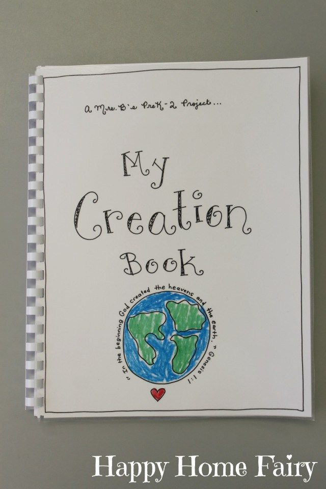 Creation Book - FREE Printable   Bible Lessons & Activities   Happy