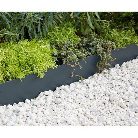 Bordure A Planter Metal Acier Galvanise Gris H 13 X L 118 Cm With Images